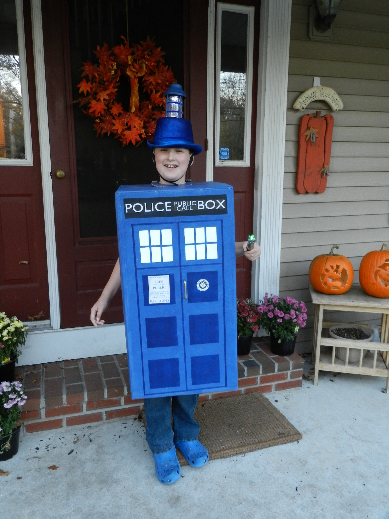 image  sc 1 st  Playing With Scissors - WordPress.com & DIY Tardis Costume | Playing With Scissors